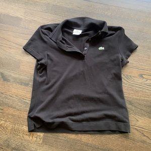 Lacoste Polo black Shirt Collar EU 40 Medium M